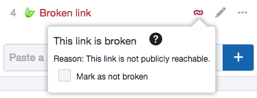 Mark as not broken